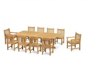 Hilgrove 10 Seater Rectangular Table 2.6m, Windsor Side Chairs & Armchairs