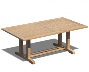 Cadogan Rectangular Teak Pedestal Table – 2m