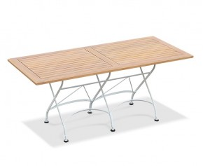 Rectangular Folding Bistro Table, White - 1.8m