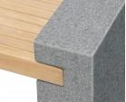 Gallery Teak and Granite Bench - 1.3m