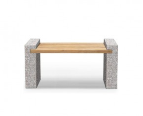 Gallery Granite and Teak Bench - 1.3m