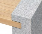 Teak and Granite Bench