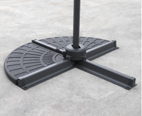 Concrete Cantilever Parasol Base Slabs – Set of 2