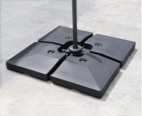 Fillable Cantilever Parasol Base Weights - Set of Four - 90-120kg