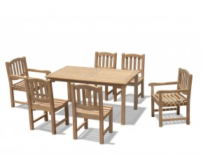 Sandringham 6 Seater Garden Table 1.5m, Ascot Side Chairs & Armchairs