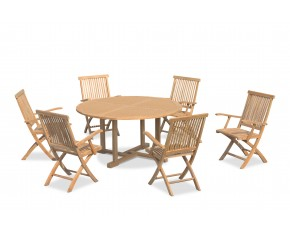 Canfield 6 Seater Round Table 1.5m & Brompton Folding Armchairs
