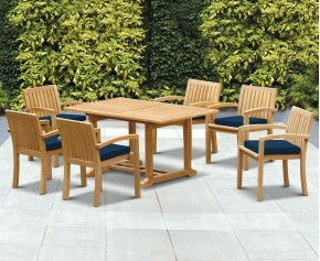 Hilgrove 6 Seater Garden Table and Monaco Stacking Chairs Set