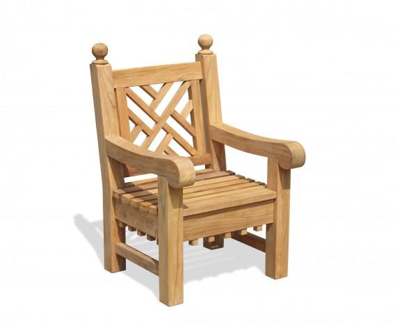 Chiswick Teak Garden Chair, Chinoiserie Armchair