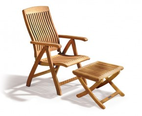 Bali Teak Garden Recliner with Footrest