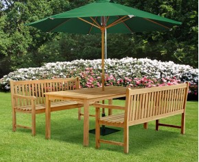Sandringham Benches and Table Set. - Rectangular Table