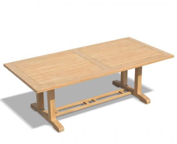 Cadogan Garden Pedestal Table, Teak Wood – 1.1 x 2.25m