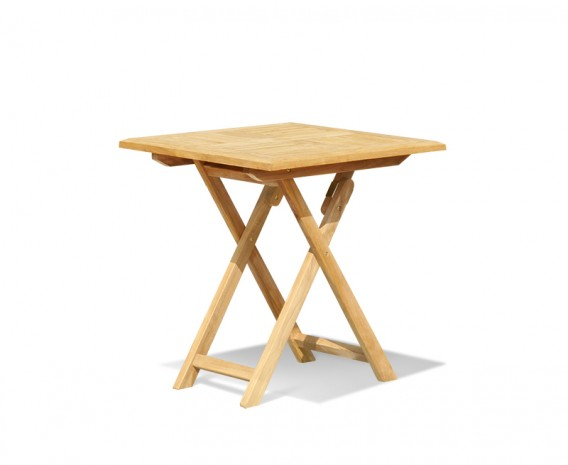 Suffolk Square Folding Table, Teak – 0.7m