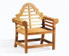 Teak Tea Table and Lutyens Armchairs Set