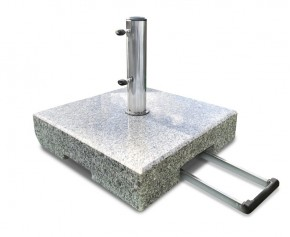 70kg Granite Parasol Base with Wheels, Square