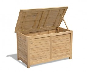 Extra Large Teak Garden Storage Box - Teak