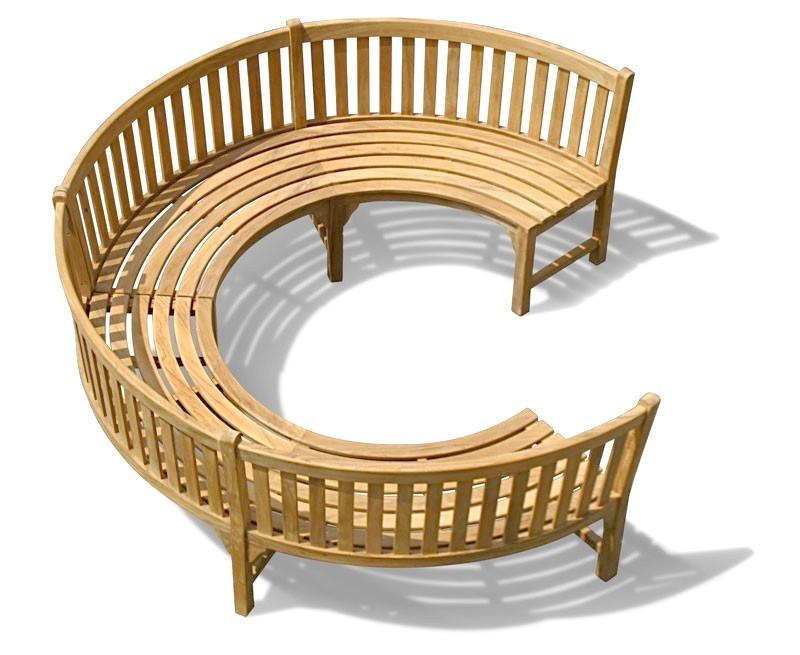 Henley 190 Teak Curved Garden Wooden Bench