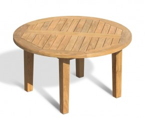 Hilgrove Round Teak Garden Coffee Table – 90cm