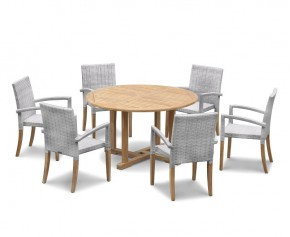 St Tropez Rattan 6 Seater Dining Set - Canfield Dining Sets