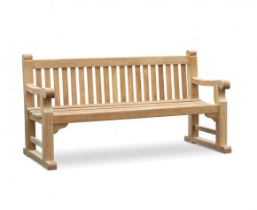Royal Hyde Park Teak Bench - 1.8m, Sled Legs