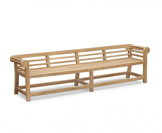 Low Back Teak Lutyens-Style Bench - 2.7m