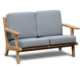 Deep Seated Teak Garden Sofa, 2 Seater
