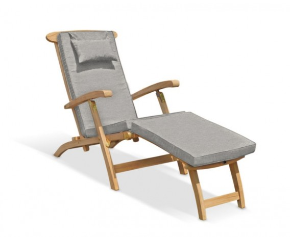 Halo Teak Steamer Chair with Cushion