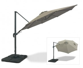 Large Umbra  Cantilever Parasol 3m with canopy rotating function