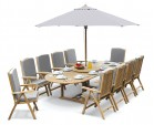 Cheltenham 10 Seater Extendable Dining Table and Recliner Chairs Set