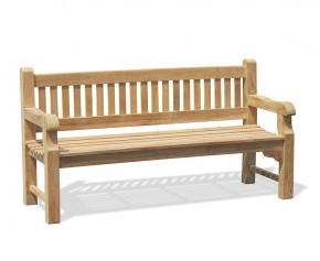 Braemar 4 Seater Teak Garden Bench – 1.8m