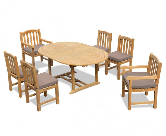 Clivedon 6 Seater Extending Dining Set
