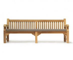 Balmoral Park Bench -  8ft Teak Street Bench - 2.4m - Ready Assembled Benches