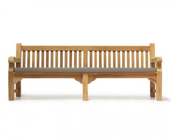 Balmoral Park Bench - 8ft Teak Street Bench - 2.4m