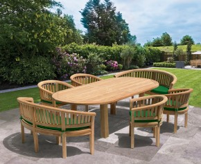 Titan Oval Contemporary Dining Set - 8 Seater Dining Table and Chairs