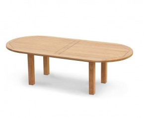 Titan Teak Oval Outdoor Dining Table - 2.6m - 8 Seater Dining Tables