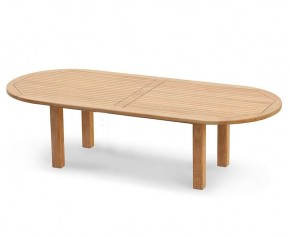 Titan Extra Large 3m Teak Oval Garden Table - 3m (New Style) - 8 Seater Dining Tables