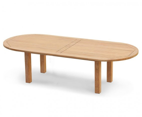 Titan Extra Large 3m Teak Oval Garden Table - 3m (New Style)