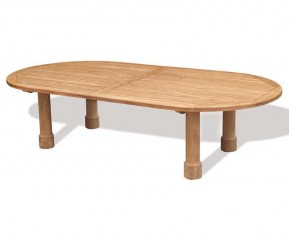 Titan Oval Teak Patio Table - 3m x 1.4m - 10 Seater Dining Tables
