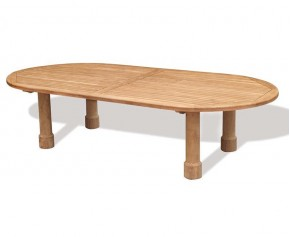 Titan Teak Oval Garden Table - 3m x 1.2m - 8 Seater Dining Tables