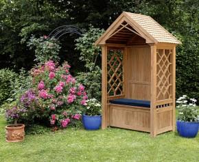 Teak Garden Arbour Bench - Small Garden Benches