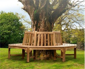 Teak Circular Tree Bench - 220cm - 4+ Seater Garden Benches