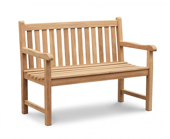 York Teak Garden Bench, Flat Pack - 1.2m