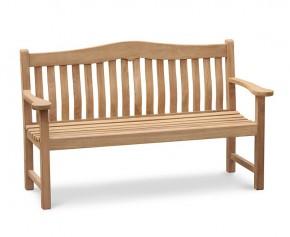 Rosette Teak Garden Bench - 1.5m