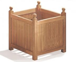 Extra Large Teak Wooden Garden Planter - 56cm - Teak