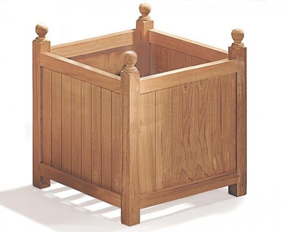 Extra Large Teak Wooden Garden Planter - 56cm