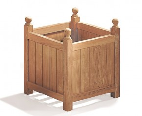 Teak Wooden Garden Planter - Large - Garden Accessories