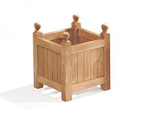 Wooden Garden Planter - Square Teak Versailles Planter - Teak