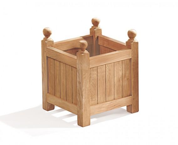 Wooden Garden Planter - Square Teak Versailles Planter