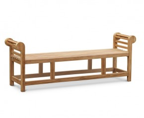 Lutyens-Style Teak Backless Garden Bench - 1.95m