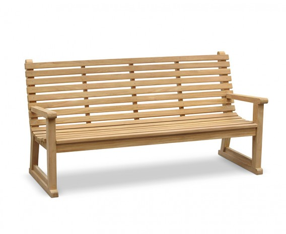 Teak Primrose Sled Park Bench - 1.8m