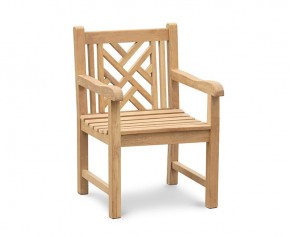 Princeton Chippendale Chair | Teak Garden Armchair - Princeton Chairs